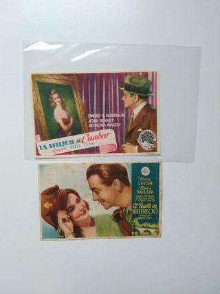 folletos de mano varios cines