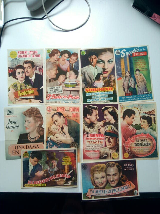 folletos de mano cine Meridiana