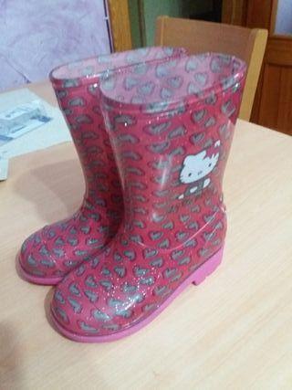 botas de agua niña talla 25