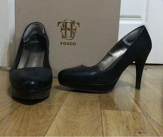 Zapatos piel 37 negros fosco
