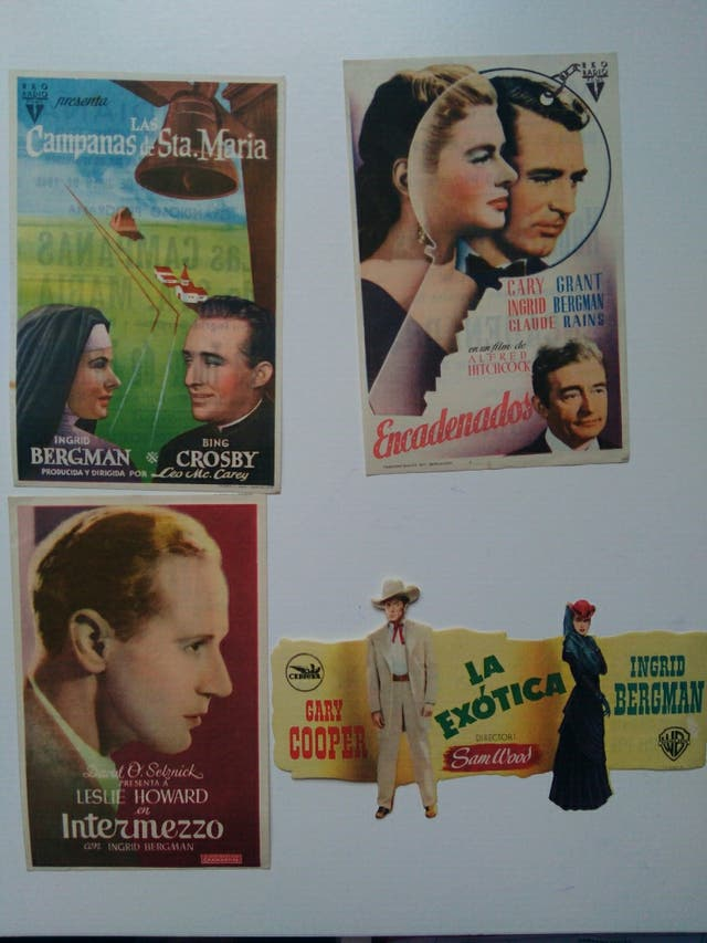folletos de mano de Ingrid Bergman