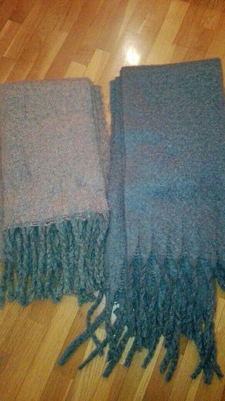 bufandas,las dos por 8€