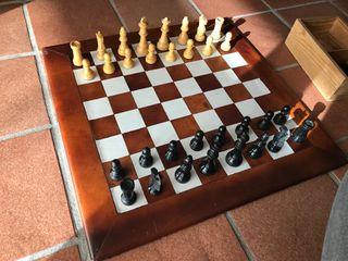 Tablero ajedrez de piel