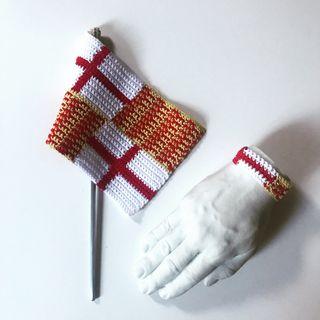 Bandera #Tabarnia y pulsera crochet