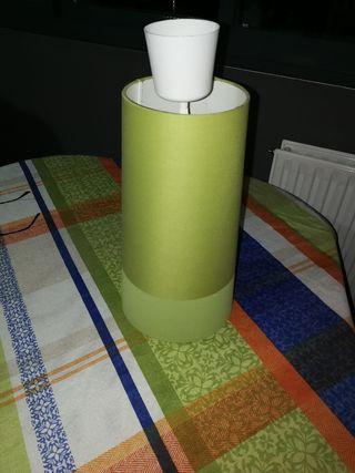 Lámpara techo tela verde