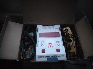 Nintendo nes clónica famicon. +cartucho de juegosc