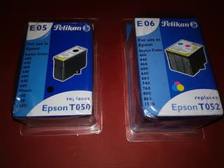 Cartucho tinta Pelikan E05 y E06 de impresor Epson