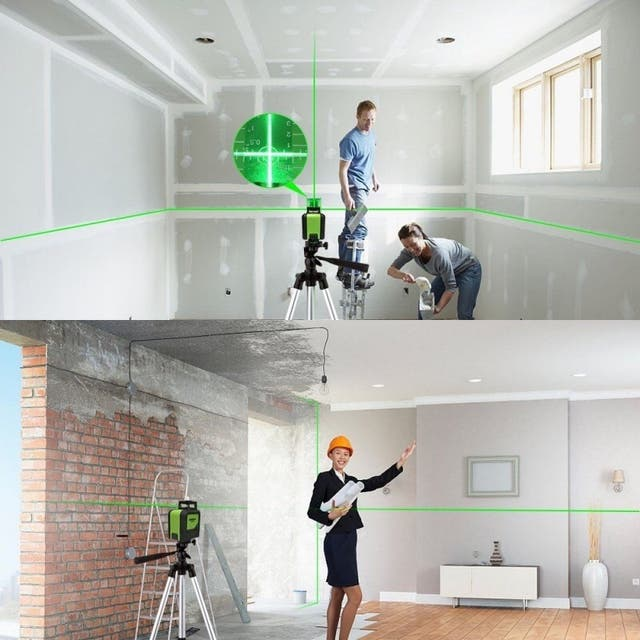 Nivel laser verde profesional autonivelante 360