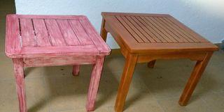 mesas auxiliares (precio por las dos)