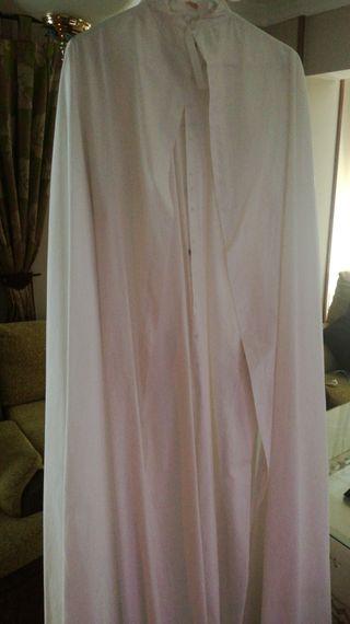 tunica y capa nazareno blanca