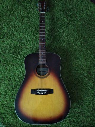 Vintage acustic guitar