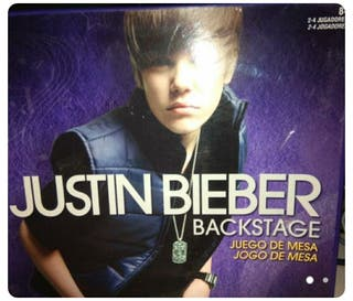 Juego mesa justin Bieber