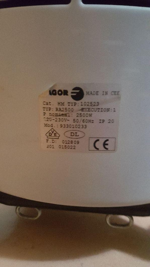 radiador fagor buen estado fonctione perfecto