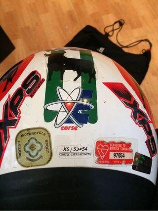 Casco racing karting moto xs