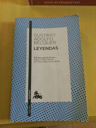 libro leyendas Gustavo Adolfo Bécquer