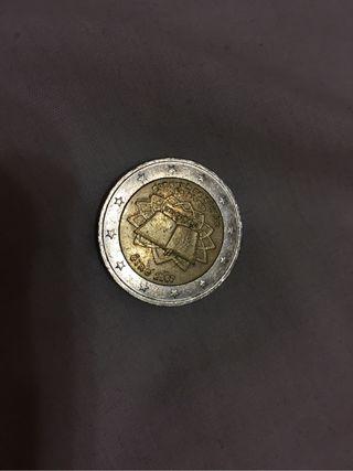 Moneda de dos euros del tratado de roma