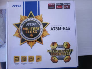 placa base msi A78m-E45 military class AMD FM2+