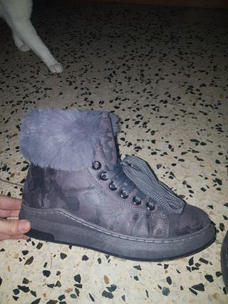 Zapatillas afalpadas camuflaje gris