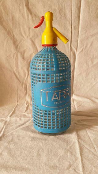 Botella de sifón antigua.