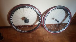 Ruedas perfil carbono Spinergy triathlon carretera