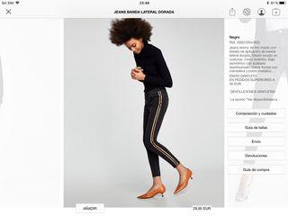 Jeans banda lateral dorada.