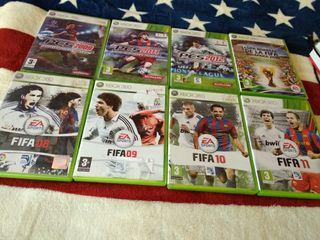Juegos de fútbol XBOX 360 y PC