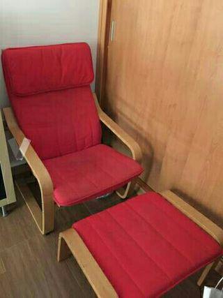 Cojines para sillón y reposapies Pöang