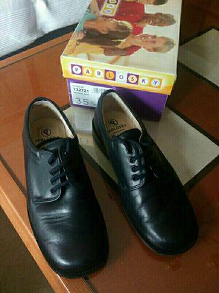 zapatos comunion piel