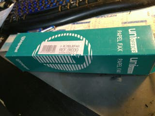 7 rollos papel termicopata tef-fax