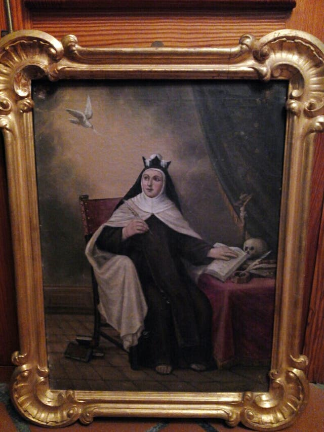 Cuadro, pintura religiosa, óleo sobre lienzo