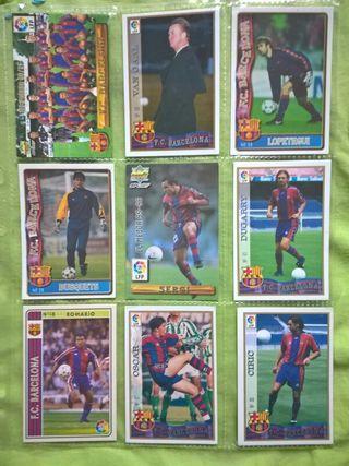 Cromos fútbol (Barcelona) 27 cromos