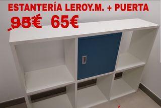 Estanterías Leroy Merlín más puerta 130 x29x87alto