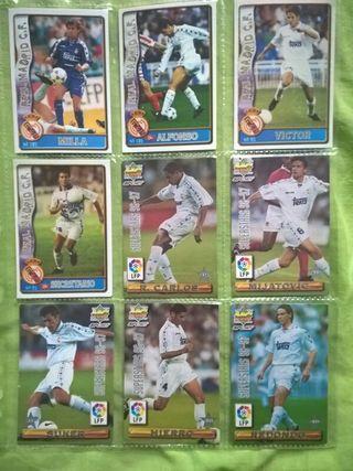 Cromos fútbol (Real Madrid) 36 cromos