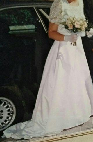 vestido de novia talla 44 de segunda mano en madrid en wallapop