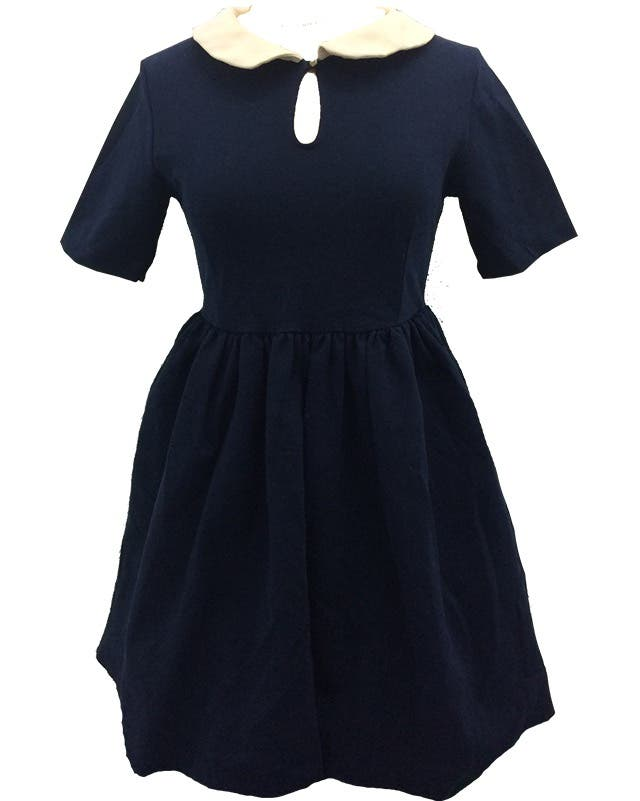 Vestido Zara azul marino cuello bebe rosa palo de segunda mano por 7 ... f16f7b4ab5da