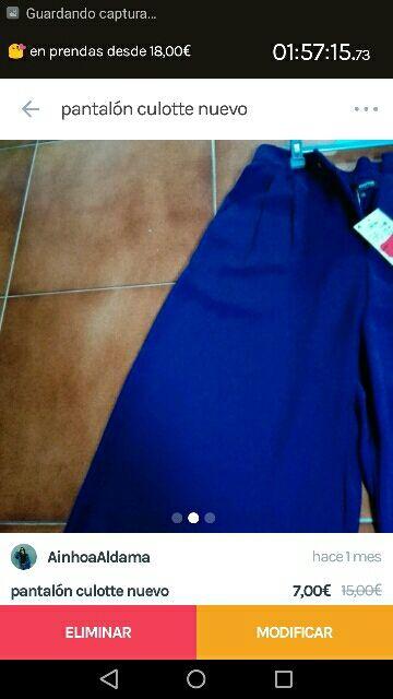 pantalón culotte nuevo