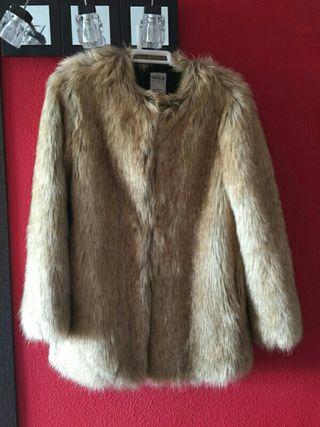 Abrigo de piel Zara