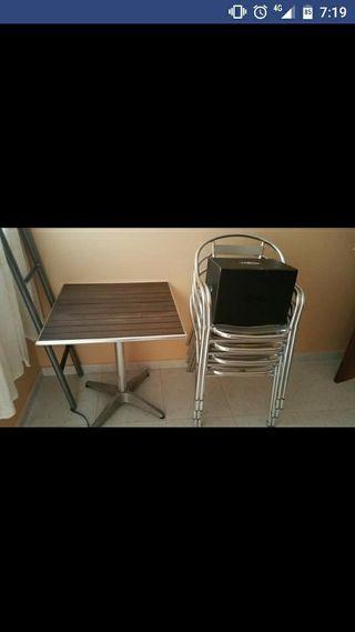 mesa terraza + sillas