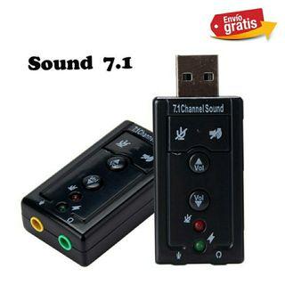 INTERFAZ DE AUDIO 7.1 USB NUEVO..