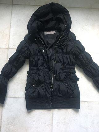 Plumas De Por Negro Zara Abrigo 25 Mano Segunda HxqSBHTF