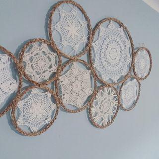 mandalas crochet para pared