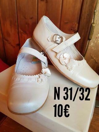 zapatos niña comunión, fiesta, eventos