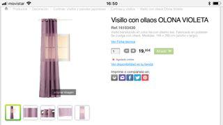 Visillo violeta con ollados