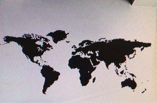 Mapa decorativo