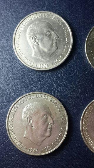 monedas de 100 pesetas de 1966 *66*67*68*70