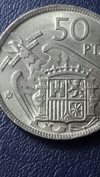 moneda 50 pesetas 1957 *59
