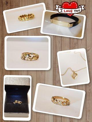 Joyas de oro para el Día de los Enamorados