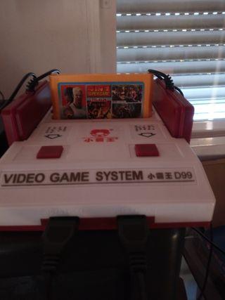 Nintendo famicon clónica +cartucho de juegos.
