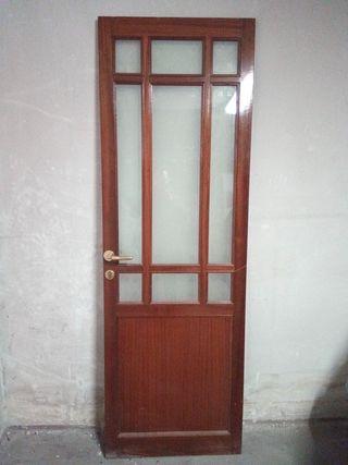 puerta madera maciza 89x209