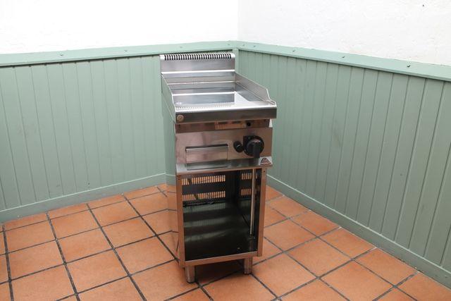Plancha industrial de cocina